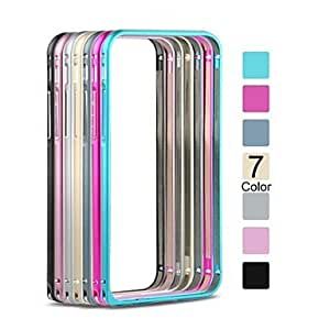 LCJ Angibabe No Screw Slim Aluminium Alloy Bumper Frame Case for iPhone 6 Case 4.7 inch , Pink