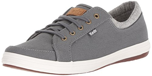 Keds Women's Vollie II Heavy Twill Sneaker,Dark Gray,8.5 M US