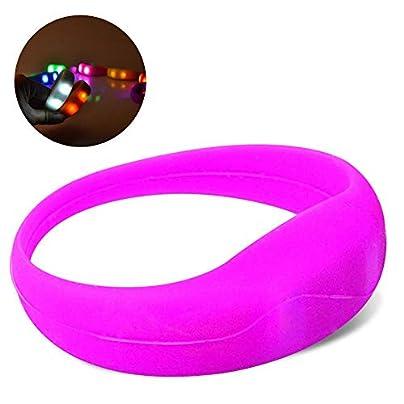KOBWA LED Bracelet Light-Up Wristband for Concerts Running Riding Jogging Vibration Adjustment Brightness High Visibility Unisex Estimated Price £1.87 -