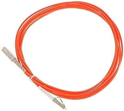 Modos Individuales de 3 Metros N/úcleos Dobles Cable de Puente de Fibra Cable de Fibra /óptica con excelente intercambiabilidad Repetibilidad-Naranja SC-LC