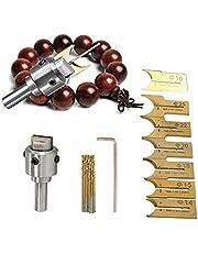 2Krmstr 24Pcs Wooden Beads Drills Bit Knife Set, 6-12mm Carbide Bit Ball Blade Wooden Bead Maker, DIY Wood Ball Woodworking Tools Kit.