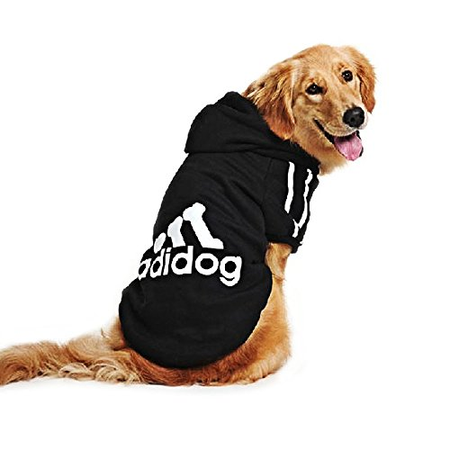 Eastlion Large Dog Warm Hoodies Coat Clothes Sweater Pet Puppy T Shirt Black 4XL by Eastlion