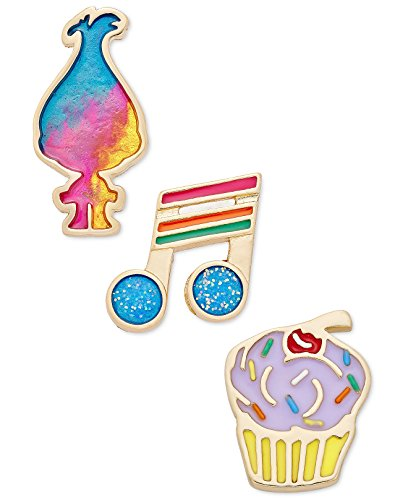 Cupcake Brooch (Betsey Johnson xox Trolls Cupcake, Note Decorative Pin Set, Set of 3)