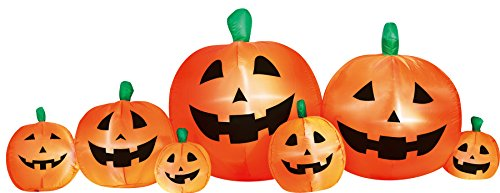 Airflowz Inflatable 8' Pumpkin Patch Inflatable Halloween Decoration Autumn Fall Harvest