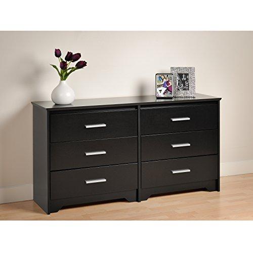 Dresser Solid Wood Bedroom - Black Coal Harbor 6 Drawer Dresser