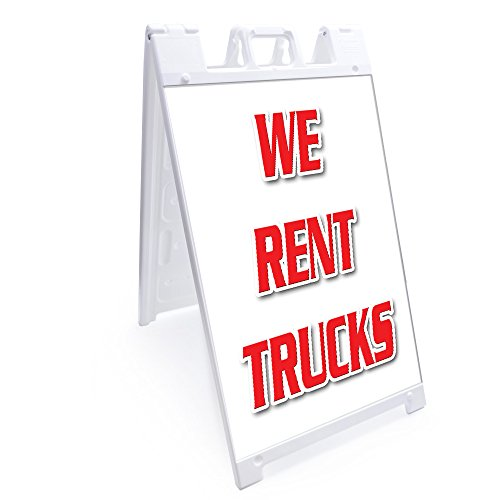 A-Frame We Rent Trucks Sign with Graphics On Each Side | 24