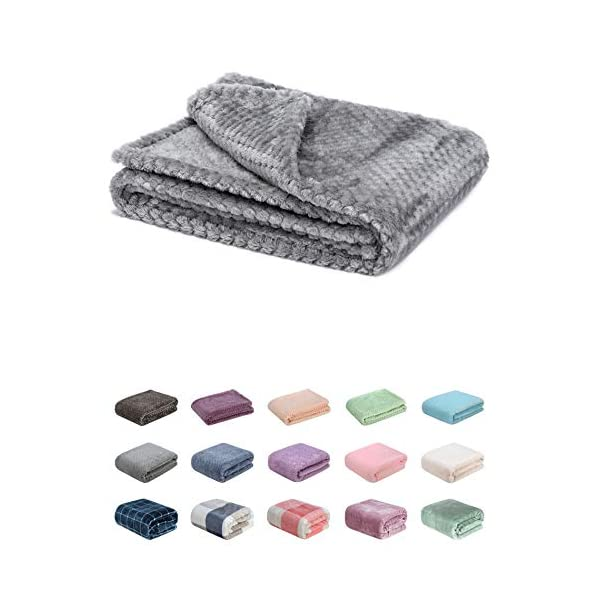 Fuzzy Blanket or Fluffy Blanket for Baby Girl or boy, Soft Warm Cozy Coral Fleece Toddler, Infant or Newborn Receiving Blanket for Crib, Stroller, Travel, Outdoor, Decorative(28 x 40 in, Flint Gray)