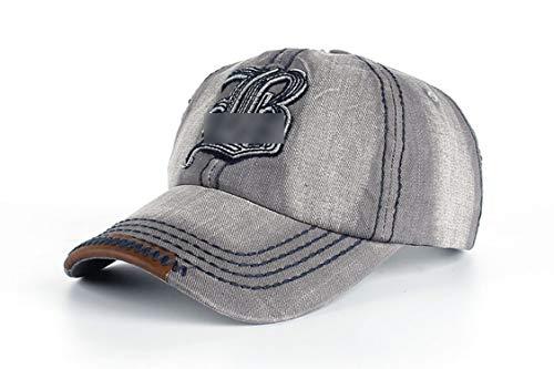 キャップ 刺繍レター B キャップ コットン 野球帽,グレー