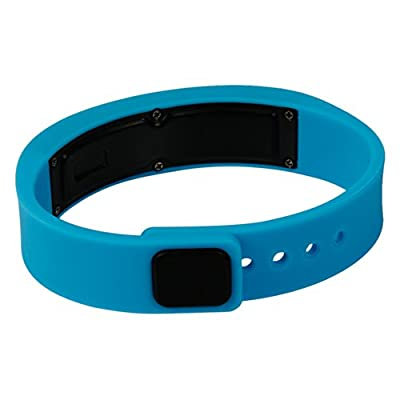 I7 Cyband Bluetooth 4.0 Smart Wristband Watch Fitness Activity Tracker Bracelet Waterproof (Blue)