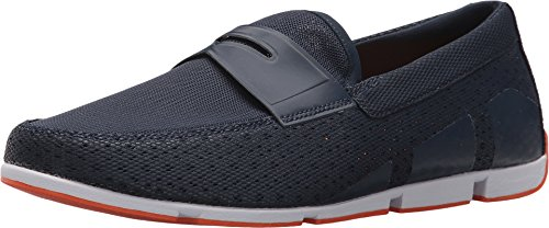 Breeze Mens Shoes - SWIMS Men's Breeze Penny Loafer for Pool and Summer (10, Navy)