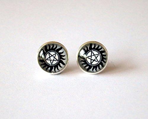Supernatural Anti Possession Tattoo Earrings Fandom product image