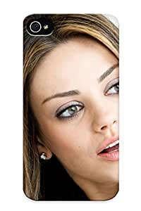 New Style Burnednilsi Hard Case Cover For Iphone 4/4s- Mila Kunis Actress Brunee Brunees Women Female Femalesk