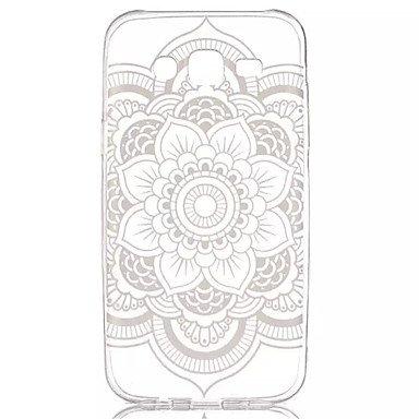 Casos hermosos, cubiertas, Modelo de flores de encaje material suave caja del teléfono de TPU transparente para la galaxia j5 ( Modelos Compatibles : Galaxy J5 ) Galaxy J5