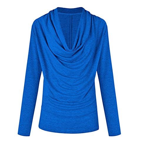 POHOK Women Fashion Long Sleeve Cowl Neck Autumn Winter T Shirt Outwear Tops
