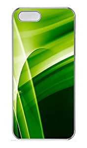 iPhone 5 5S Case Green Abstract N005 PC Custom iPhone 5 5S Case Cover Transparent by icecream design