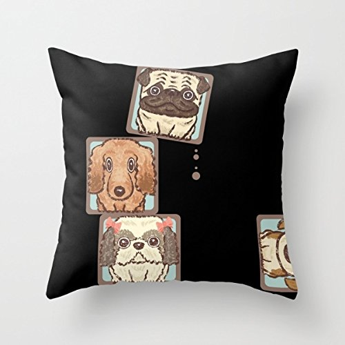 [Artistdecor 18 X 18 Inches / 45 By 45 Cm Dogs Pillow Shams ,2 Sides Ornament And Gift To Boys,floor,pub,girls,dinning Room,living] (Snuggles Dog Costume)