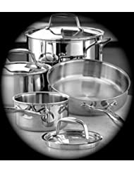 Pampered Chef Stainless Steel Cookware 7 piece set