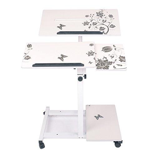 Adjustable Standing Desk Height Mobile Stand Up Desk Comp...