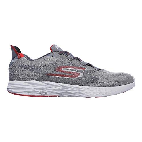 Skechers Men's Go Run 5, Charcoal/Red, 12 D