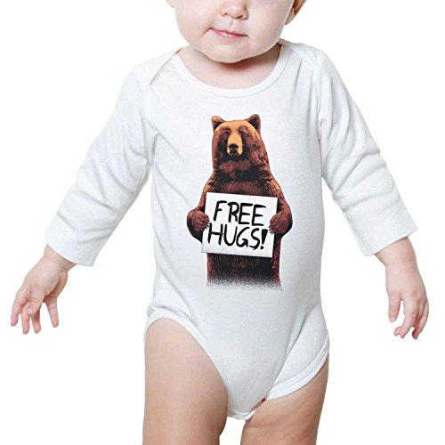 Free Hugs Form A Bear Unisex Baby Boys Girls Onesie Bodysuit Soft Comfortable