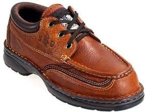 Georgia Ladies ST Shoes G3355 W 8 1/2 Brown Moc Toe Oxford