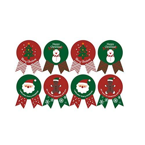 BESTOYARD クリスマスシールステッカーXmasラベル自己粘着ステッカーベイク包装ラベルラッピングステッカーデコレーションシールペスター20PCS