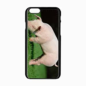 iPhone 6 Black Hardshell Case 4.7inch pig grass food Desin Images Protector Back Cover