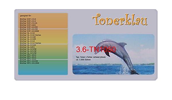 compatible Toner 3.6 de TN1050 para: Brother DCP-1510 como ...