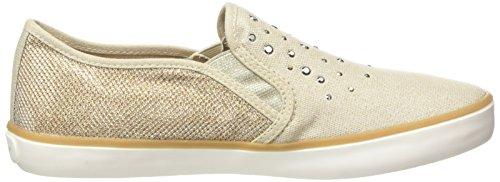 Geox Jr Kiwi Girl D - Zapatos Primeros Pasos para Bebés, Beige (Beige/Gold), 36