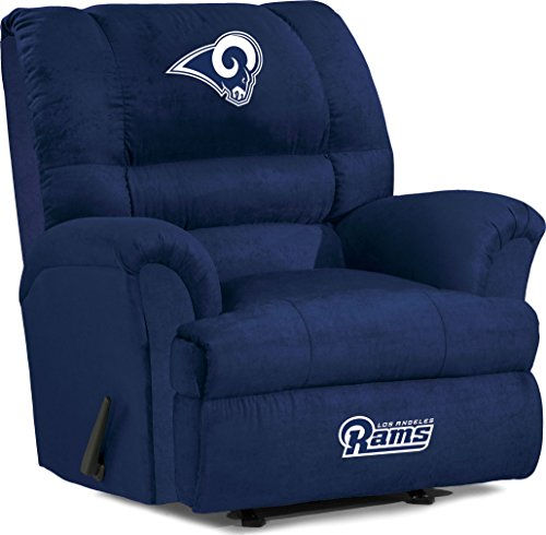 Imperial Officially Licensed NFL Furniture: Big Daddy Microfiber Rocker Recliner, Los Angeles Rams by Imperial