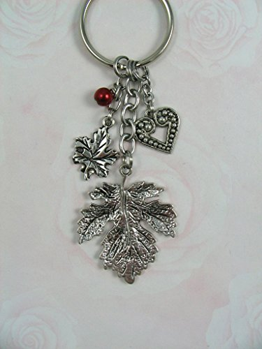 Phi Charm Keychain - Alpha Phi Leaf Heart Keychain OFFICIALLY LICENSED