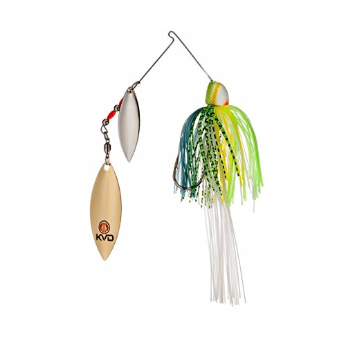 Strike King Finesse KVD Spinnerbait, Chartreuse Sexy Shad, 3/8-Ounce from Strike King