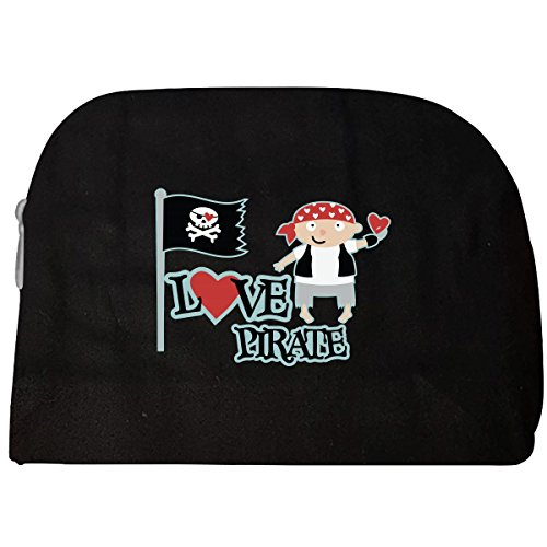 Love Pirate Creative Design Pirate Flag Cute Guy Holding - Cosmetic (Pirate Makeup For Guys)