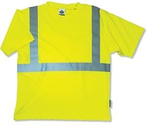 GloWear 8289 ANSI High Visibility Lime Reflective T-Shirt, X-Large