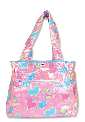 Trend Lab Tulip Tote Style Diaper Bag, Groovy Love (Discontinued by Manufacturer)