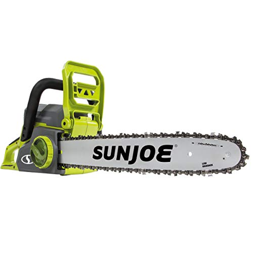 Sun Joe ION16CS 16-Inch 4-Amp 40-Volt Cordless Chain Saw, Kit (w/ 4.0-Ah Battery +...