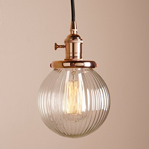 Copper Bronze Round Pendant Light