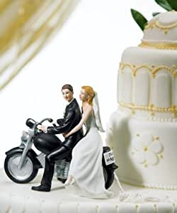 Motorcycle Bride and Groom Cake Topper Style 8660