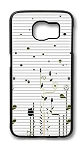 Brian114 Case, S6 Case, Samsung Galaxy S6 Case Cover, Flying Dandelion 11 Retro Protective Hard PC Back Case for S6 ( Black )