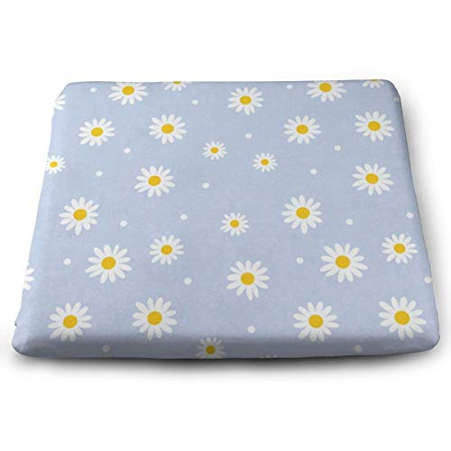 Ladninag Seat Cushion Vintage Cute Daisy Chair Cushion Cool Offices Butt Chair Pads for Outdoors