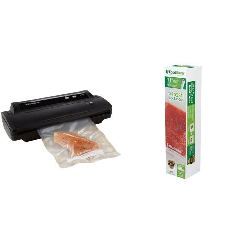FoodSaver V2244 Vacuum Sealing System and 11″ Roll Bundle