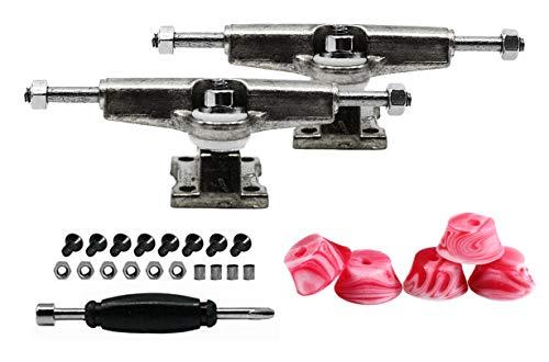 티크 조정 지판 스페이서 트럭 크롬 은 포함한 설정 5 개의 레드&화이트 소용돌이블 부싱-32MM 폭-조&립