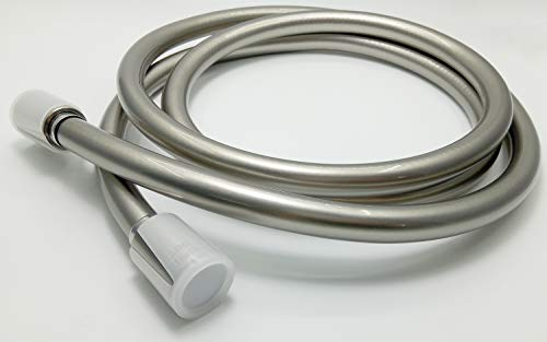 ThreeE Kink-free Shower Hose Extra-long PVC Showerhead Hoses Replacement 79-Inch Brushed