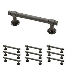 "Franklin Brass P29520K-SI-B Straight Bar Pull 3"" (76mm) Aged Iron 10 Piece"