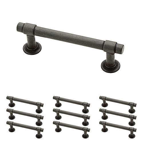 "Franklin Brass P29520K-SI-B Straight Bar Pull, 3"" (76mm), Aged Iron, 10 Piece"