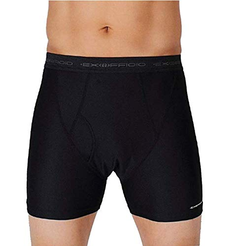 (ExOfficio Men's Give-N-Go Boxer Brief (2 Pack X Large, Black))