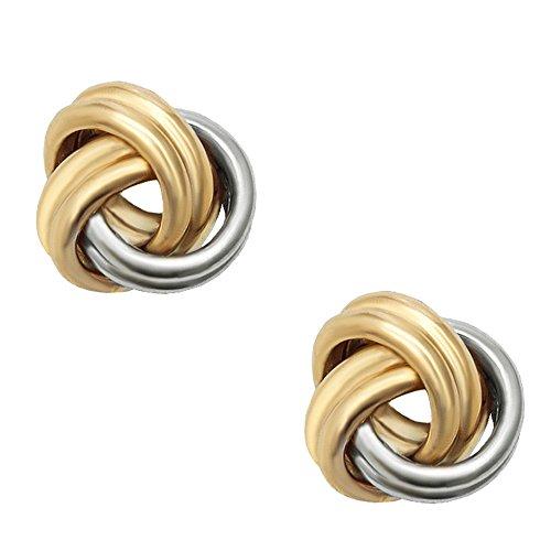 Love Knot Earring, 14Kt Gold Love Knotpost Earring by DiamondJewelryNY