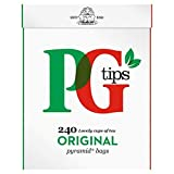 PG tips Pyramid Teabags 240 per pack - Pack of 6