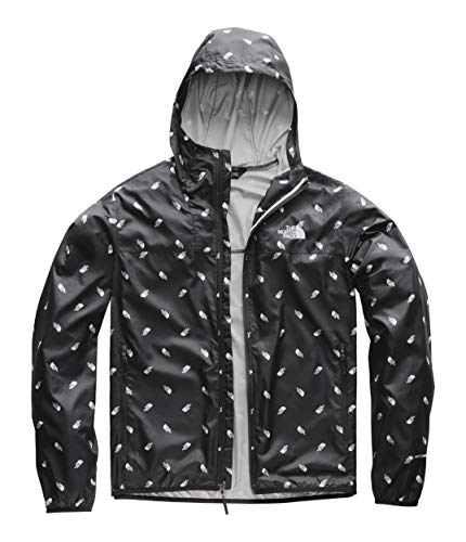 (The North Face Men's Printed Cyclone Hoodie, TNF Black Tossed Logo Print, Size XL)