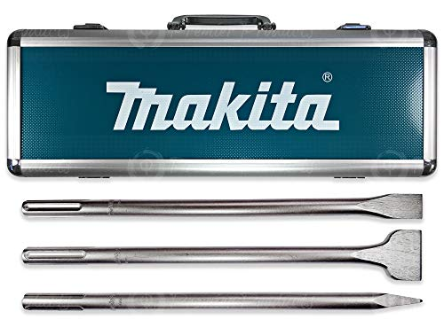 Makita 3 Piece – SDS-Max Chisel & Point Bit Set For SDS Max Rotary Hammers – Heavy Demolition For Reinforced Concrete & Tile